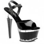 Pleaser Platform Topuklu Siyah Ayakkabı Kadın Siyah Siyah