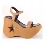 Pleaser Taba Renkli Dolgu Platformlu Ayakkabı Kadın Taba Rengi