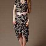 uzun pudra siyah elbise