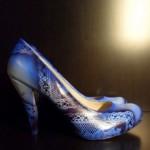 PilaMita Design Kadın Ayakkabı Blue Lace Mavi