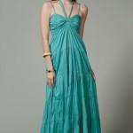 mint su yeşili maksi elbise