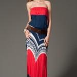 trendyol lacivert kırmızı uzun elbiseler
