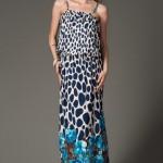 trendyol lacivert uzun elbiseler