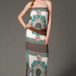 trendyol vizon rengi uzun elbiseler