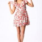 Aslı Güler özel tasarım Çiçekli Elbise