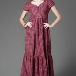 kısa kollu maksi elbise modelleri