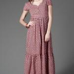kısa kollu uzun elbise modelleri