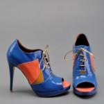 mavi nar çiçeği yüksek topuklu ayakkabı modelleri