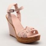 pudra rengi hasır topuklu sandalet modelleri