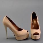 pudra yüksek topuklu ayakkabı