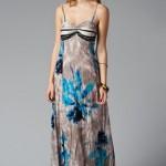 trendyol Çiçekli Askılı Maxi Elbise