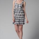 trendyol ekoseli yazlık elbiseler