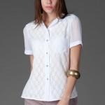 trendyol ng style beyaz betiw gömlek