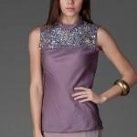 trendyol ng style buko koyu lila bluz