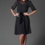 trendyol ng style puantiyeli ladder elbise