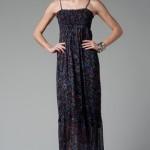 trendyol niff çiçekli uzun elbise