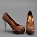 vizon rengi yüksek topuklu ayakkabı