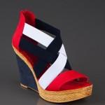 Kırmızı-Beyaz-Mavi Nubuk Ayakkabı