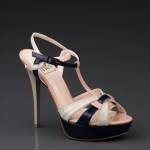 Lacivert Pudra rengi Rugan Ayakkabı