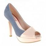 pudra rengi çizgili ayakkabılar