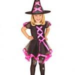 parti dünyası Cadı Kız Kostümü Neon Pembe