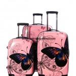 2014 pembe desenli valiz setleri