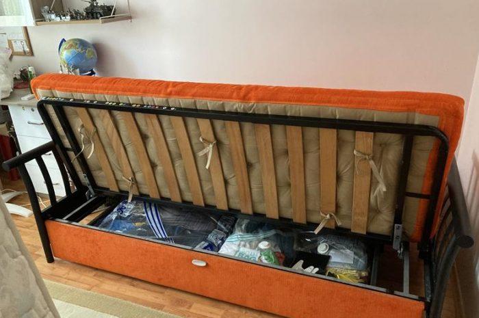 Demir iskeletli sağlam çekyat kanepe